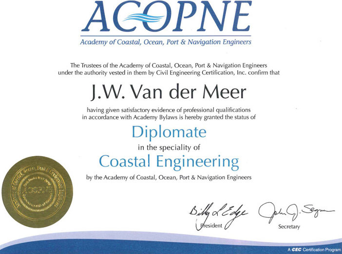 Diplomate Coastal Engineering